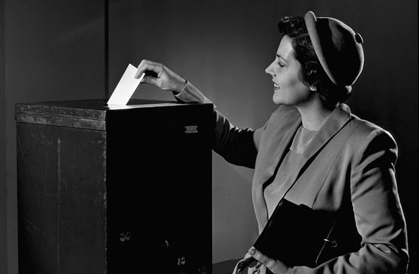 Foto voto femenino