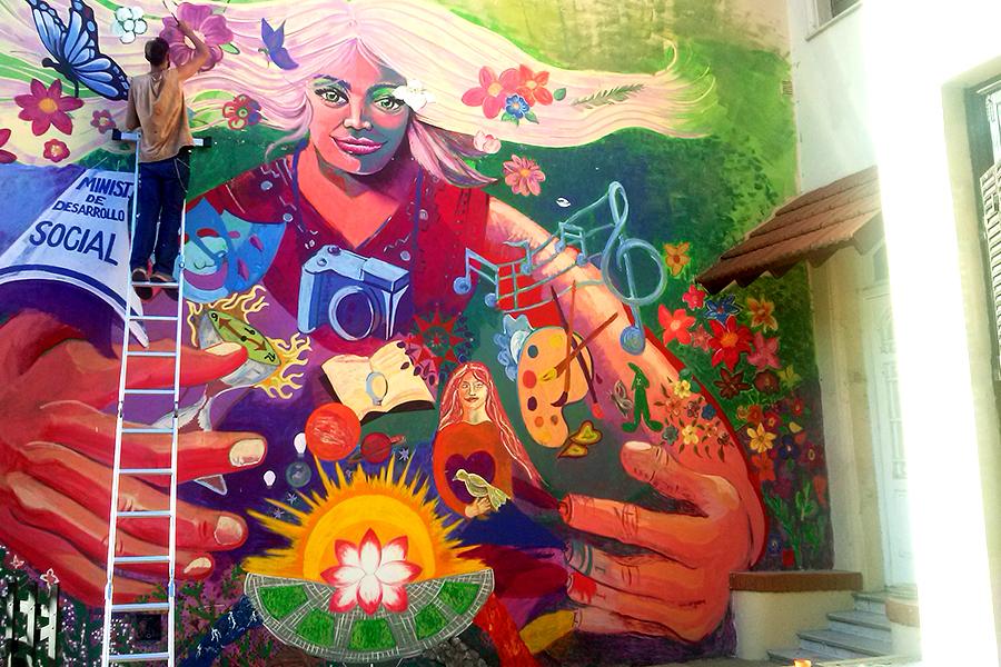 Foto de un mural.