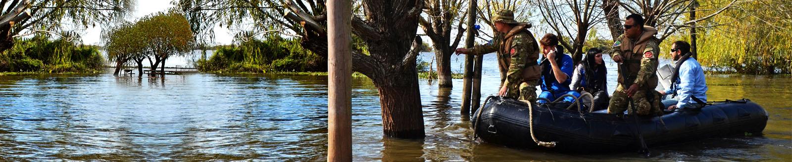 Imagen ilustrativa de las inundaciones en Ibicuy
