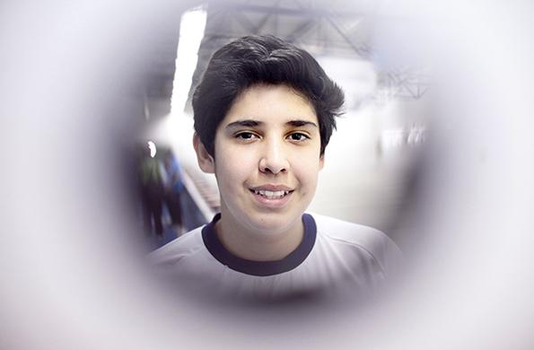 Ezequiel Fazio tiene 16 años y practica tiro deportivo en Tierra del Fuego.