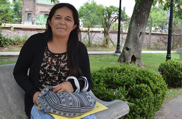 Vanesa Medina es oriunda de Tigre y cooperativista del programa Ingreso Social con Trabajo.