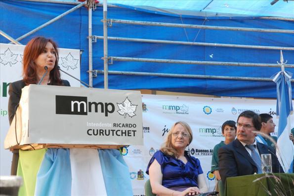 La presidenta Cristina Fernández durante el acto que inauguró el ciclo lectivo 2011.