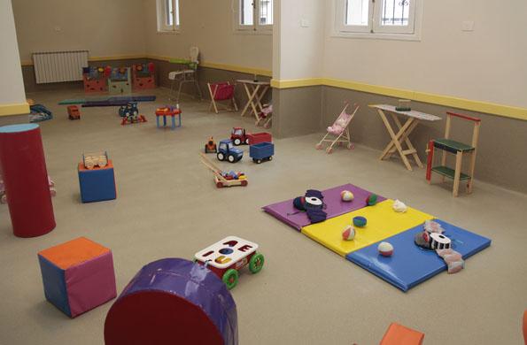 Imagen ilustrativa de la sala de juegos del CDI Evita.