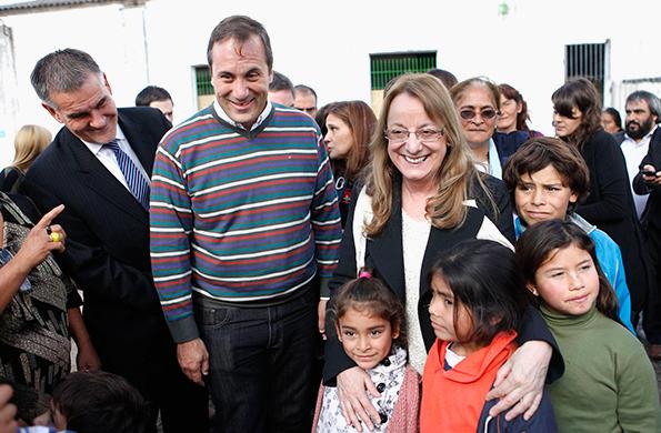 La ministra participó de la inauguración del refugio.