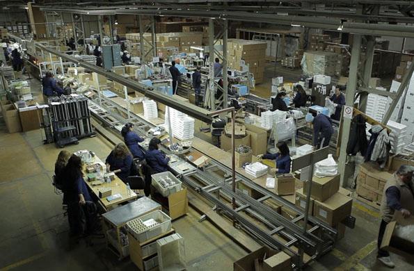 Esta cooperativa fabrica microondas, televisores, lavarropas, y equipos de audio.