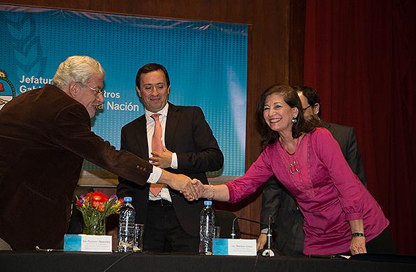 La secretaria de Organización y Comunicación Comunitaria, Inés Páez, rubricó el acuerdo.