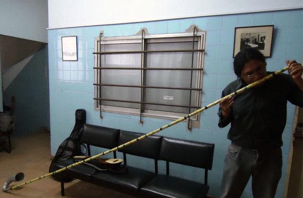 Se dedica a fabricar instrumentos musicales personalizados como el sikus, la quena y el charango.