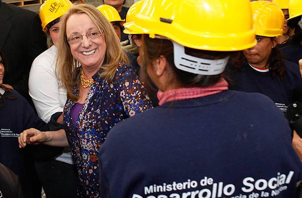 La ministra de Desarrollo Social, Alicia Kirchner destacó el trabajo cooperativo.