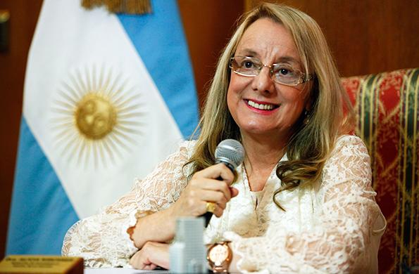 La Ministra Alicia Kirchner inauguró hoy la capilla mediante una videoconferencia.