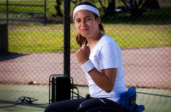 Antonella es uno de los referentes del deporte adaptado nacional.