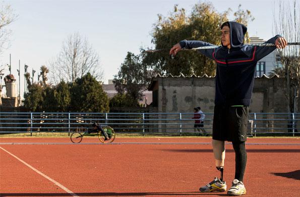 Nahuel entrena a diario en el Centro Nacional de Alto Rendimiento Deportivo (CeNARD).