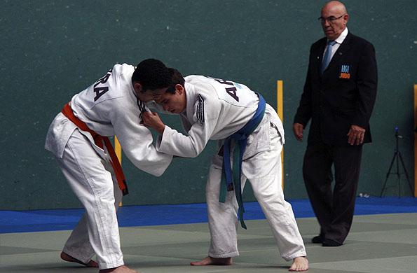 La competencia de judo se realizó en el frontón corto del CeNARD.