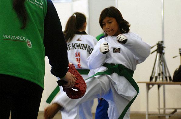 Remigia entrenando antes de competir.