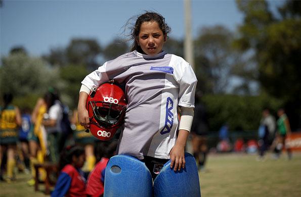 Camila Almada tiene 13 años es de Córdoba y forma parte del equipo de hockey.