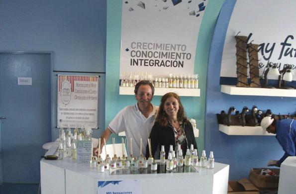 Miriam y Daniel participaron del Mercado Federal de Tecnópolis.