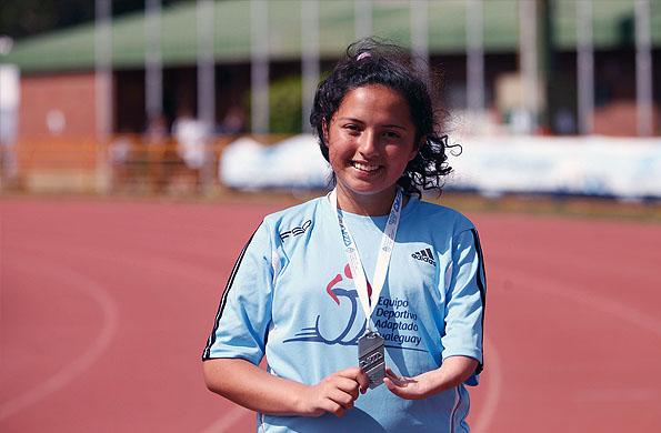 Con tan sólo 15 años, Fátima es una joven promesa del deporte nacional.