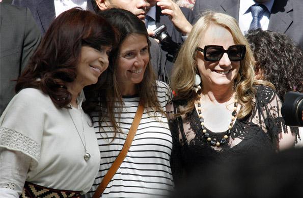 Cristina Fernández de Kirchner junto a Alicia Kirchner en El Calafate, Santa Cruz.