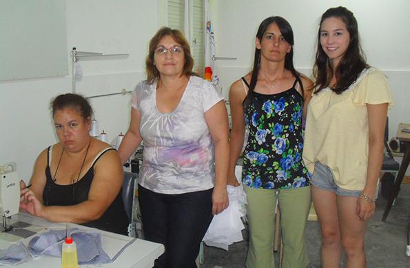 Miembros de la iniciativa llevada adelante por Marcela.