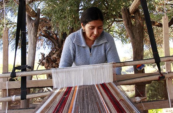 Para el poncho tradicional salteño se usa la lana de llamas, ovejas y a veces vicuña.