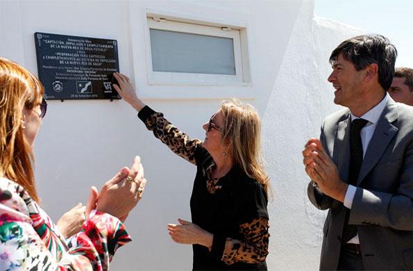 La ministra de Desarrollo Social durante la inauguración.