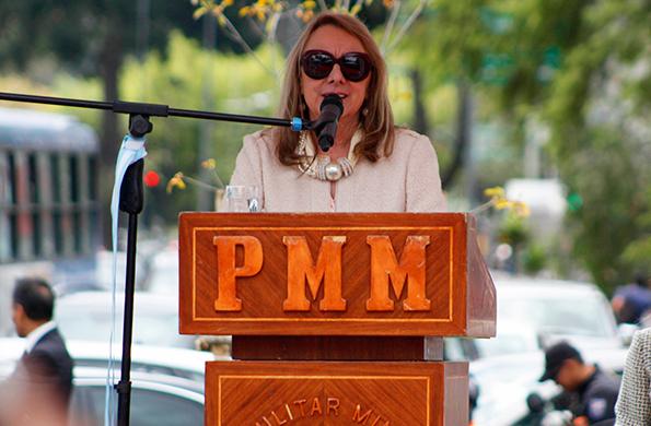 La ministra de Desarrollo Social, durante la actividad realizada en Quito.