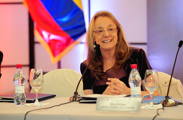 """""""Los derechos sociales son Derechos Humanos"""", enfatizó Alicia Kirchner."""
