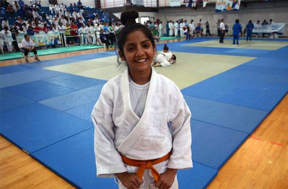 Antonella Smart es chubutense, tiene 13 años y compite en la categoría Sub 14 de judo femenino.