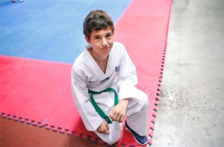 Agustín Tavisi tiene 13 años, es de Coronda, Santa Fe y compite en taekwondo.