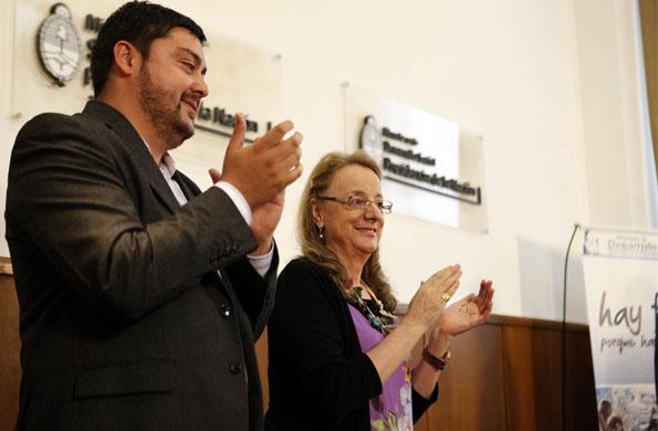 La actividad tuvo lugar en el salón Ramón Carrillo de la cartera social.