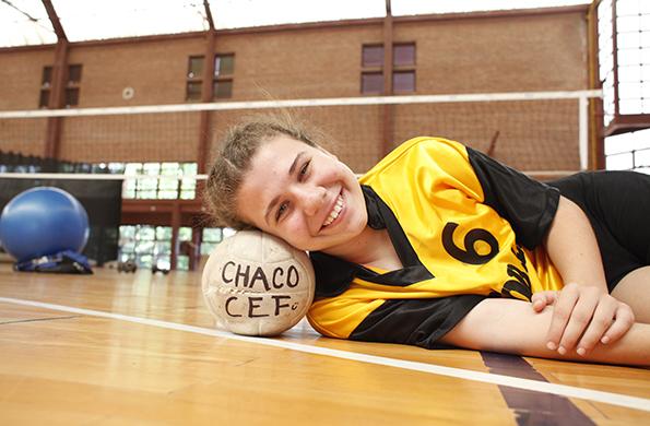 Luciana Ayelén Stella tiene 13 años, es de Chaco y compite en cestoball.