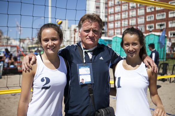 El vóleibol de playa se incorporó este año a los Juegos Nacionales Evita.