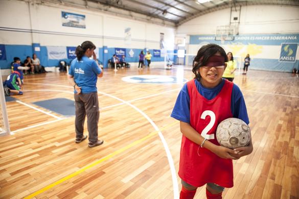 Oriunda de Salta capital, esta joven de 13 años compite por primera vez en los Juegos Evita.