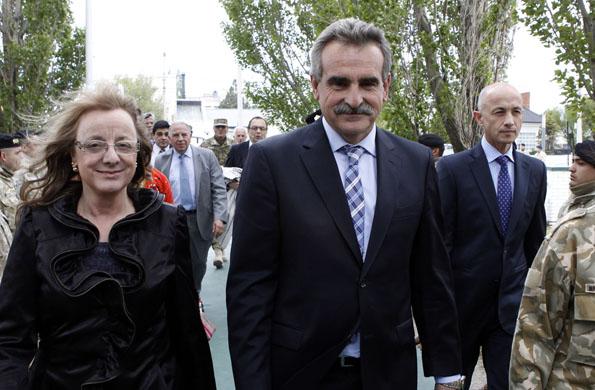 De la actividad participó el ministro de Defensa, Agustín Rossi.