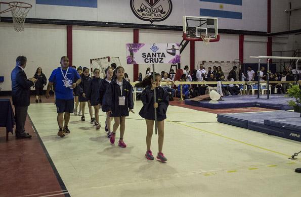 La gimnasia artística se incorporó en esta edición de los Juegos Evita.
