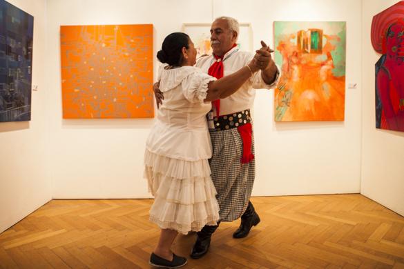 Esta pareja está casada hace 50 años y vino a representar a la provincia de Chaco.