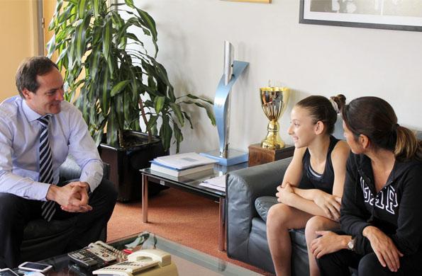 La niña se desatacó en gimnasia artística y sueña con participar de los Juegos de la Juventud 2018.