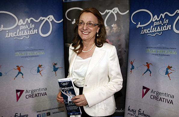 """Alicia Kirchner concurrió a la función de """"El Cascanueces"""" en el Teatro Coliseo."""