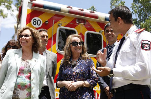 La ministra Alicia Kirchner visitó hoy tres localidades de la provincia de Santa Fé.