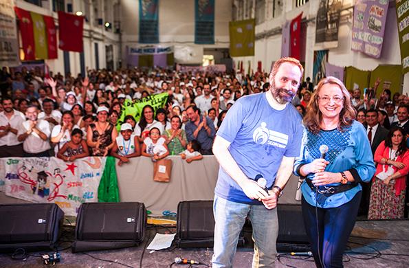 Alicia Kirchner junto a Carlos Molina de SEDRONAR.