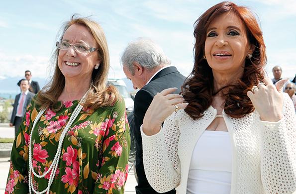 La Presidenta y Alicia Kirchner inauguraron un nuevo hospital en El Calafate.
