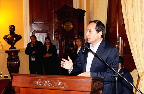 El secretario de Deporte, Carlos Espínola participó de la actividad.