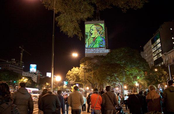 También se presentó un sitio web en homenaje a Eva Perón.