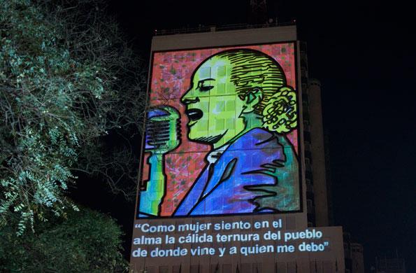 Eva Perón en su fasceta más política.