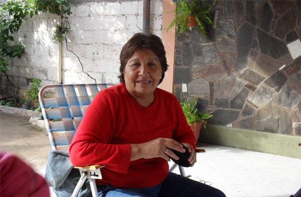 """Sara Márquez, participa del Centro de Pensionados """"Chaina Kunan"""" en Santiago del Estero."""