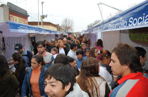 Feria Permanente en Granadero Baigorria, en provincia de Santa Fe.