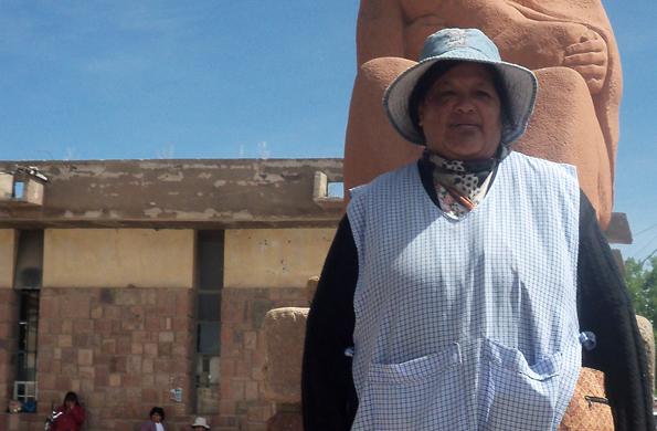 Justina Ochoa es jujeña y nació en la localidad puneña de Mina Aguilar en 1960.