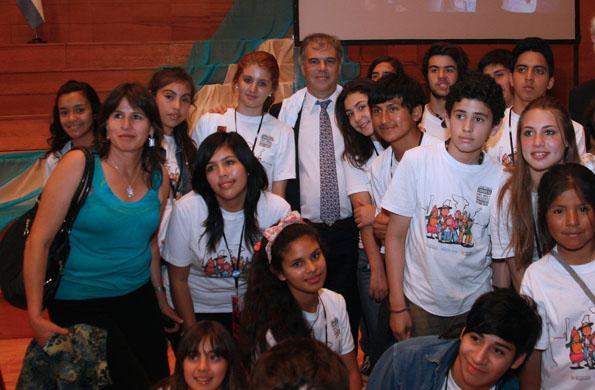 Participantes del congreso junto al secretario de la SENNAF, Gabriel Lerner.