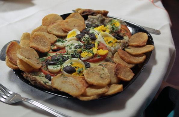 Uno de los platos elaborados por la cooperativa de trabajo El General.