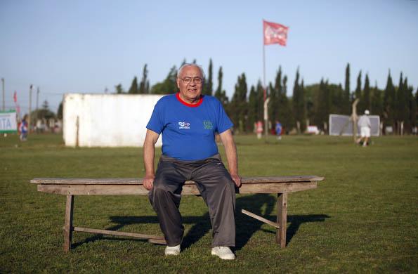 Fue a Mar del Plata con su esposa y su nieto, quienes también comparten su pasión por el deporte.