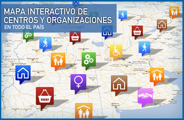 El mapa interactivo sigue ...